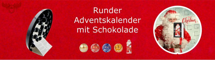 Runder Adventskalender mit Lindor-Kugeln