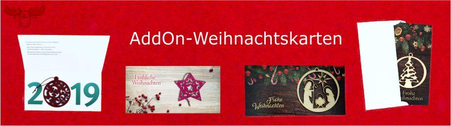 AddOn Weihnachtskarten mit Anhängern