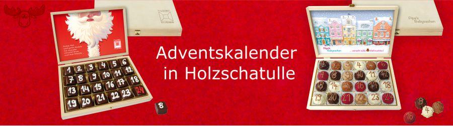 Adventskalender in Holzschatulle