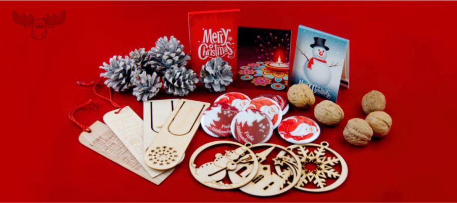 Weihnachtliche Giveaways für Kunden